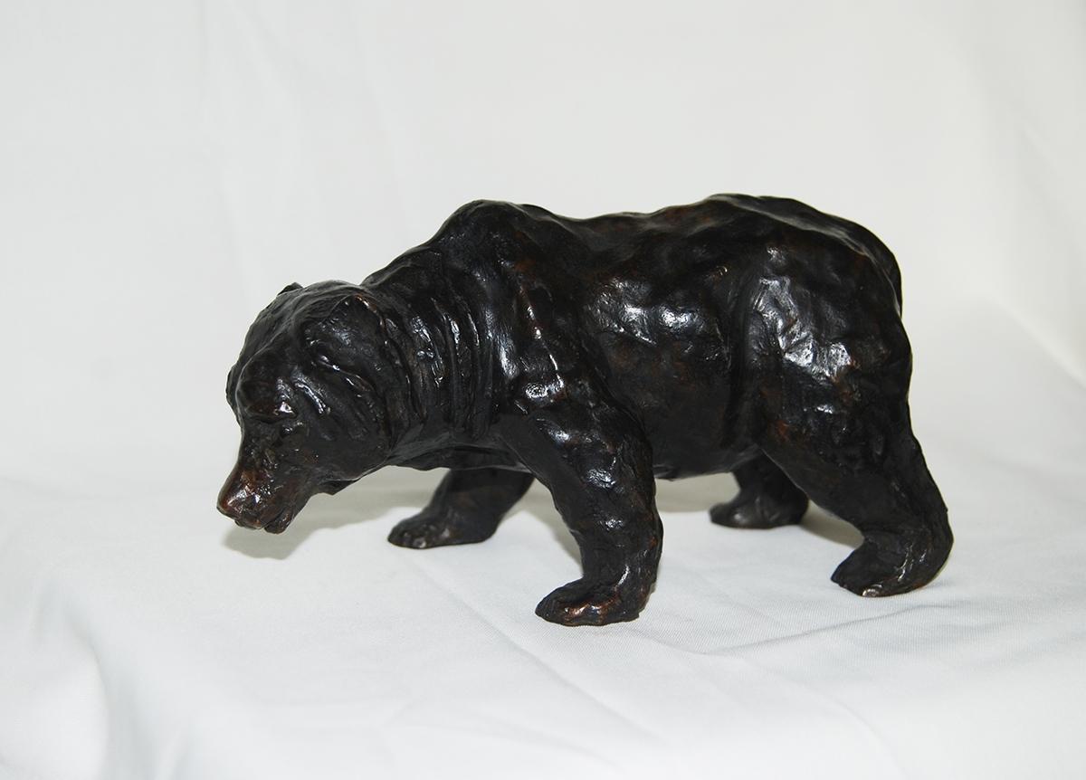 Jeune ours noir, bronze numéroté – Sculpture bronze 5 x 11x 15 cm – Prix **** dispo à partir de 4/8