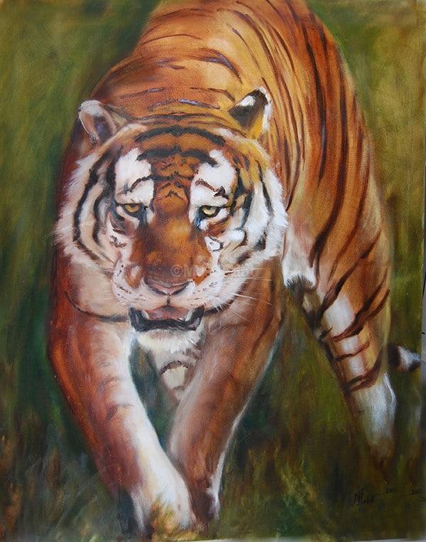 Tigre - Huile polychrome - 120 x 80 cm