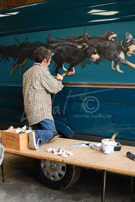 Vautrait de Seine et marne 4 – Fresques 2.5 x 0.8 m