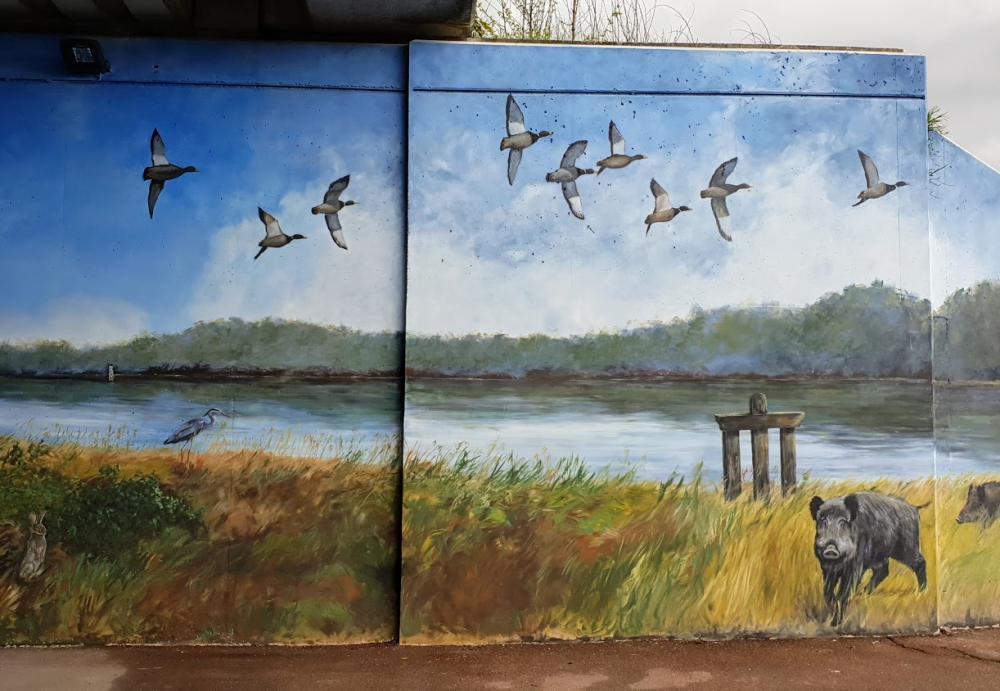 Fresque murale de la Sologne – Fresque 32 x 4,5 m