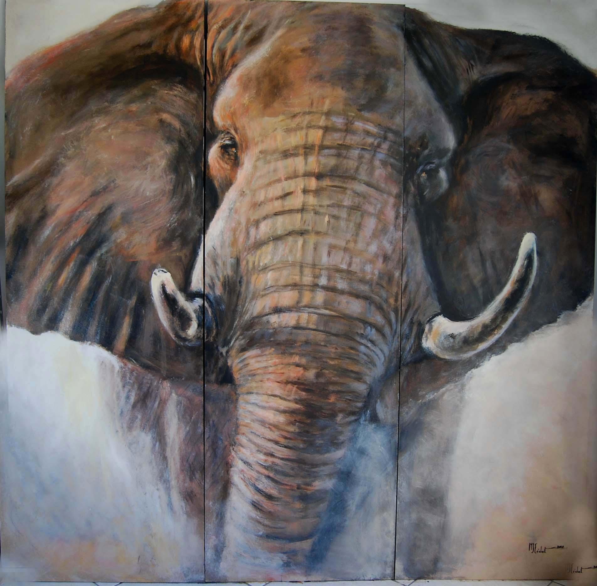 paravent 1 verso – Acrylique sur toile de lin brut 150 x 180 cm