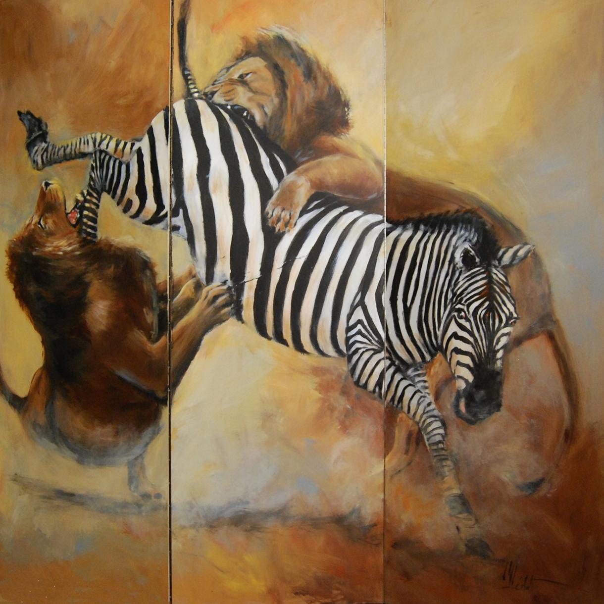 paravent 5 recto – Acrylique sur panneau de bois 165 x 165 cm