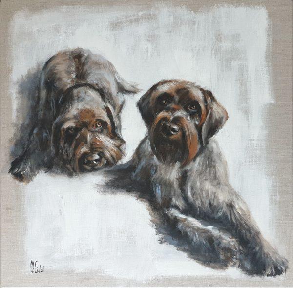 Korthals Marie-Joëlle Cédat-artiste animalier peinture animaliere-art-animalier- peintre animalier